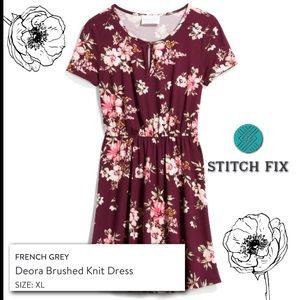 Short sleeve elastic waist dress